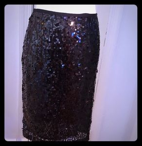 Calvin Klein 8 black Sequin skirt excellent used.